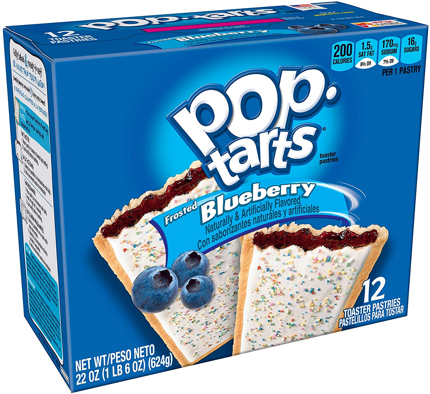 Pop Tarts Frosted blueberry (12 unidades)