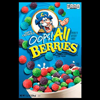 Cap'n Crunch oops all berries