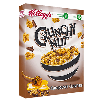 Crunchy nut chocolate clusters