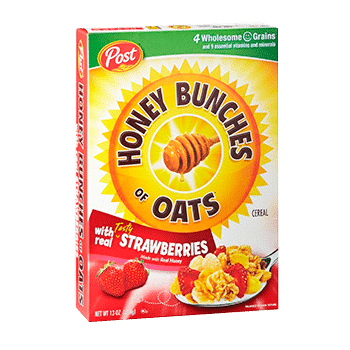 Honey Bunches Oats with strawberry