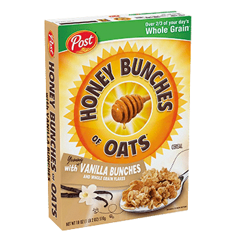 Honey Bunches Oats with vainilla bunches