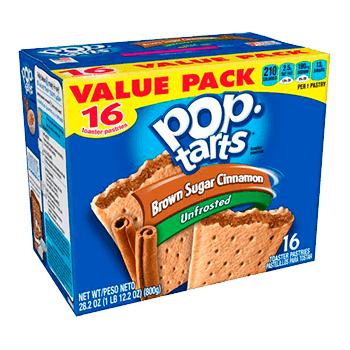 Pop Tarts Brown sugar cinnamon unfrosted (16 unidades)