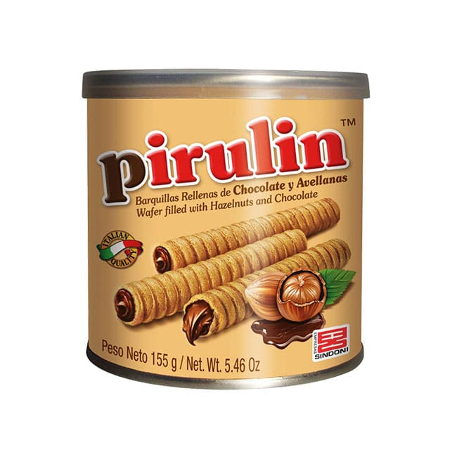 Pirulin chocolate y avellanas