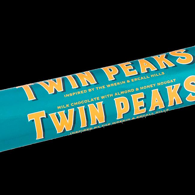 Twin peaks milk chocolate with almond & honey nougat