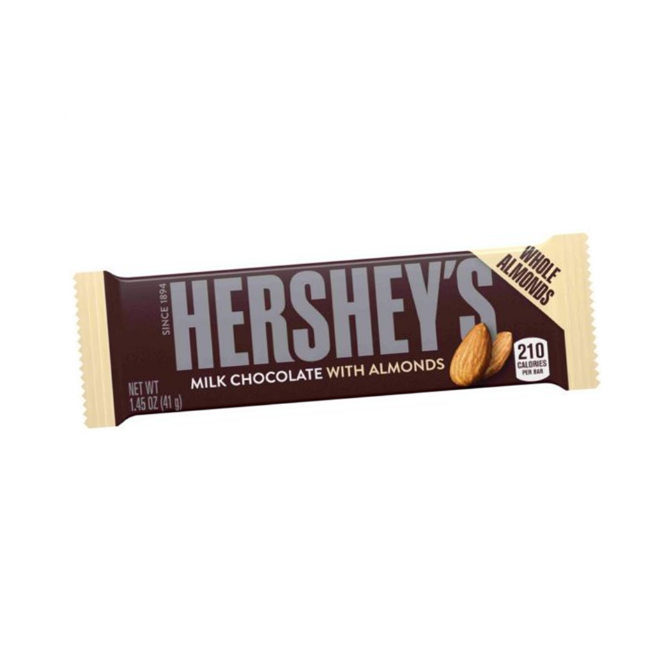 Hersey´s Milk chocolate with almonds.